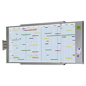 Planning annuel Nobo - magnétique - 109,6 x 74 cm