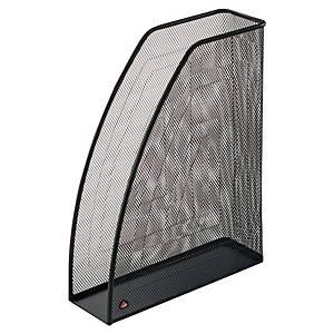 Porte-revues Alba Mesh en métal, dos 83 mm, noir