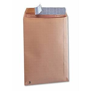 Caja de 100 bolsas seguridad - 184 x 261 mm - 125 g/m² - banda adhesiva