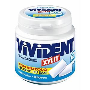 Gomme da masticare Vivident Xylit in barattolo da 75 confetti