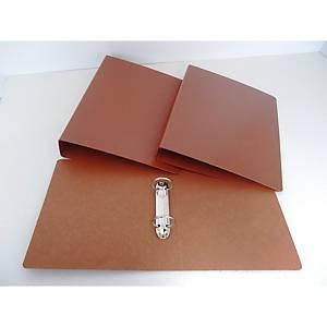 Dossier Mariola - fólio - 2 argolas - lombada 40 mm - castanho