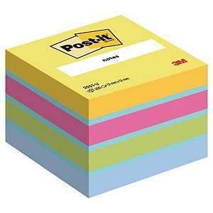 3M Post-it® 2051 Klebezettel im Würfelblock 51x51mm, 4 Farben, Pack. 400 Blatt