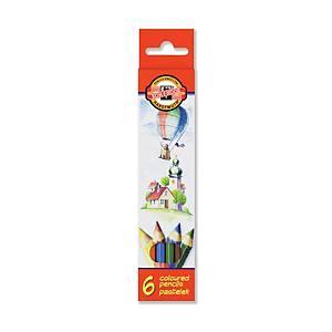 Koh-i-noor színes ceruzák, 6 szín/csomag