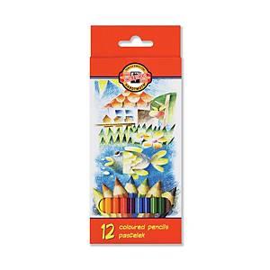 Koh-i-noor Farbstifte, 12 Stk/Packung