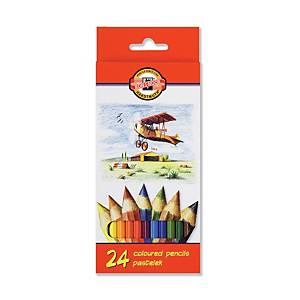 Ceruzky farebné Koh-i-noor kohinoor, 24 ks/balenie