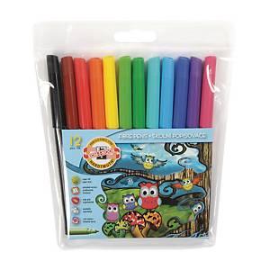 Školské fixky Koh-i-noor, mix 12 farieb