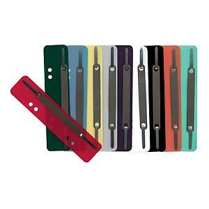 Heftstreifen, kurz, PP, Metalldeckleiste, farbig sortiert, 250 Stück