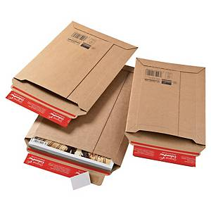 Colompac CP010.08 rigid corrugated cardboard envelope 340 x 500 x 50 mm