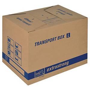 Boîte de déménagement TidyPac® L, carton double cannelure, 500 x 35 x 350 mm