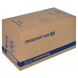Přenosná krabice tidyPac®, 680 x 350 x 355 mm, hnědá