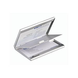 Visitenkartenbox Durable 243323, Aluminium mattsilber