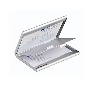 Durable személyi névjegykártyatartó, dupla, ezüst