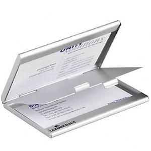 Portabiglietti da visita tascabile Durable DUO 10 biglietti alluminio