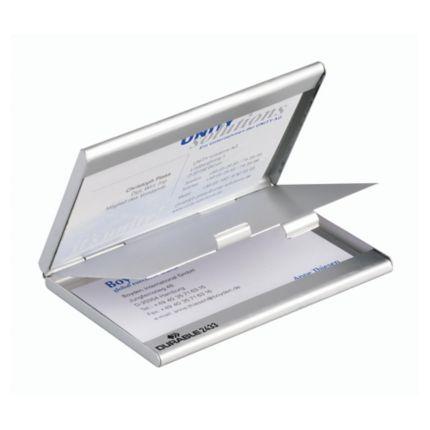 Visitenkartenbox Durable 243323 Duo Für 20 Karten Mattsilber