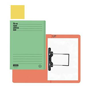 ABBA 102UP Manilla Card Folder Yellow