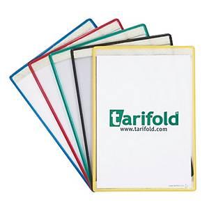 Busta adesiva con bordo colorato Tarifold A4 colori assortiti - conf. 5