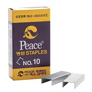 평화 스테이플 침 10호 1000개입 X 4갑 세트