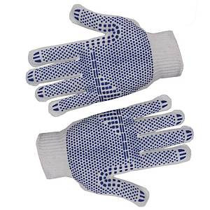 PK2 GLOVES WITH BLU DOTS