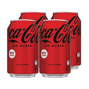 Coca Cola Coke Zero 330ml - Pack of 4