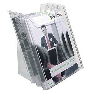 Durable Combiboxx 3 Compartments Transparent A4 Leaflet Dispenser