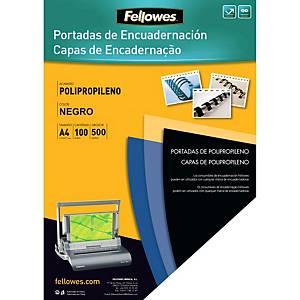 Pack de 100 cubiertas de encuadernación - A4 - PP - negro