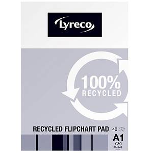 Lyreco Flipchart Pads Recycled A1 40-Sheets - Pack Of 5