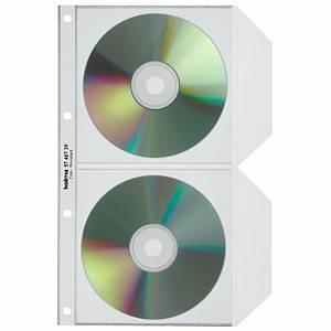 CD/DVD Zeigbuchtaschen Kolma, für 2 CD/DVD, Packung à 25 Stück