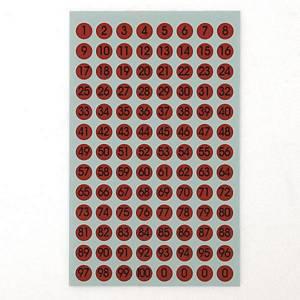 예현 좋은라벨 견출지 6011 레터링 라벨 Ø9 빨강 7매