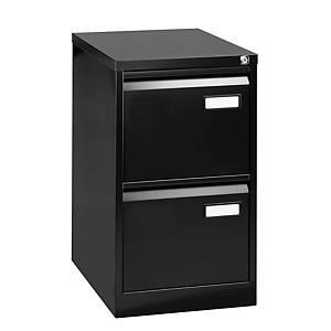 Bisley Basic filing cabinet for suspension files 2 drawers H71 cm black