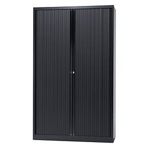 Cupboard high with 4 shelves 120 x 198 x 43 cm black