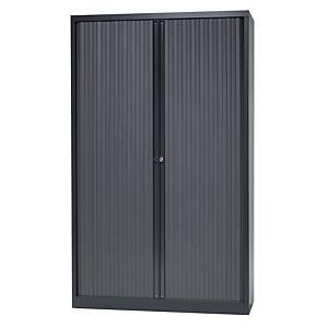 Armoire à rideaux haute Bisley, 4 étagères, H 198 cm, anthracite