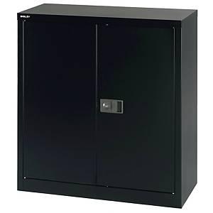 Armoire Bisley Economy, porte charnière, 1 ét.,91,4x40x100cm (lxPxH), noir