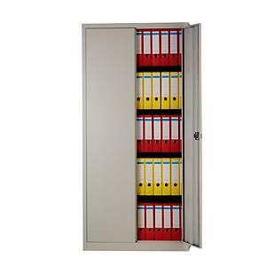 Armoire à portes battantes Bisley, 4 étagères, H 195 cm, gris clair