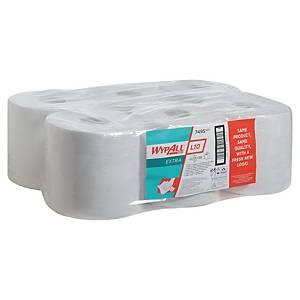 Papier d essuyage Wypall L10 pour Aquarius - 7495 - blanc - 6 bobines