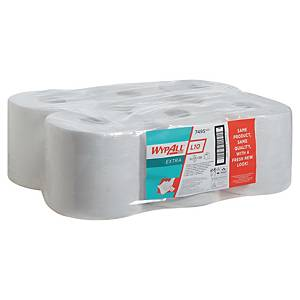 Wypall L10 White Wiper Centrefeed Rolls 76mm Core - Pack of 6