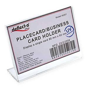 DEFLECT-O ป้ายใส่นามบัตรแนวนอน 46301-TL ทรงตัวL