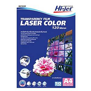HI-JET แผ่นใสสำหรับพิมพ์เลเซอร์ HLF-124-50 50 แผ่น