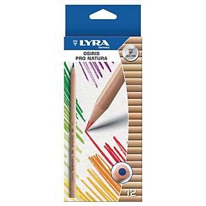 Farbstift Lyra 2571120 Pro Natura, farbig sortiert, Etui mit 12 Stück