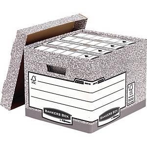 Opbevaringskasse Bankers Box System, standard, pakke a 10 stk.