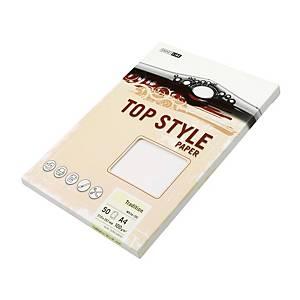 Papír se strukturovaným povrchem, Top style, A4, 100 g/m², bílý