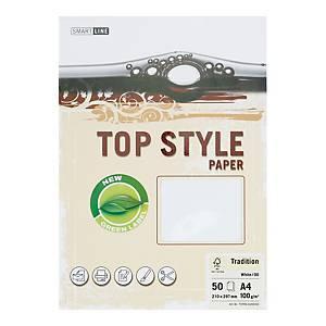 Papier ozdobny TOP STYLE Tradition ,kolor biały, 100 g/m², 50 arkuszy
