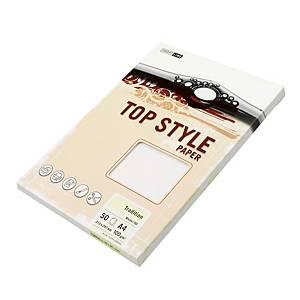 Papír se strukturovaným povrchem Top Style A4 100g/m2, Tradition, slonová kost