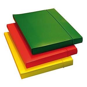 Cartella portaprogetti Leonardi PPL con elastico dorso 3 cm rosso