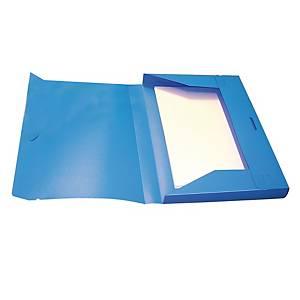 Cartella portaprogetti Leonardi PPL con elastico dorso 3 cm azzurro