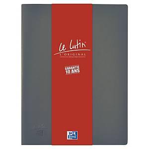 Porte vues Oxford Le Lutin - PVC opaque - 20 pochettes - gris