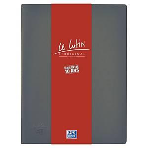 Porte vues Oxford Le Lutin - PVC opaque - 40 pochettes - gris