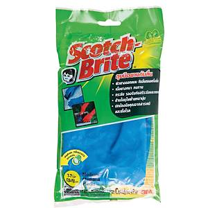 SCOTCH-BRITE ถุงมือยาง ไซส์ M 1 คู่