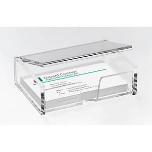 Visitenkartenbox Sigel VA112, für 80 Karten bis 90 x 58 mm, glasklar acryl
