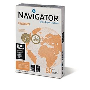 Kopierpapier Navigator Organizer, A4, 80g, 2fach gelocht, weiß, 500 Blatt