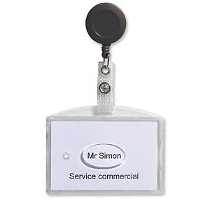 PK20 GEMCARD BADGE HOLD DBLE CARD W/REEL